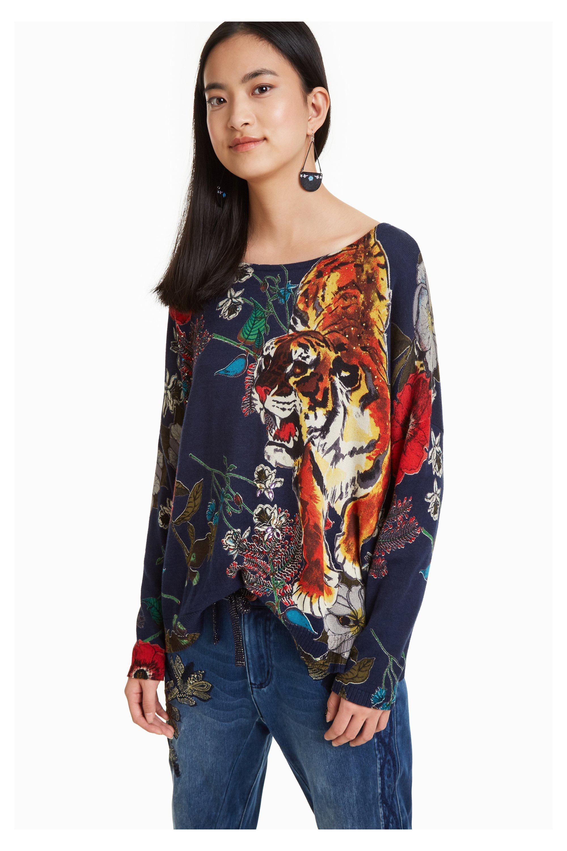 d541fe277a Desigual chiara színes női pulóver 18WWJF23 18wwjf23/3007, Női ...
